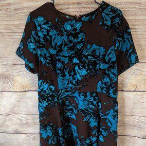 Who What Wear Blue Floral Skater Dress Sz XXL #D